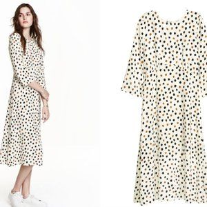H&M Open Back Dress with Dots NWOT